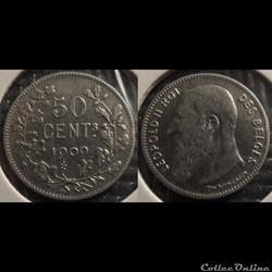 Belgique 50 Centimes 1909  Des Belges