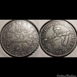 Autriche 50 Shilling 1967