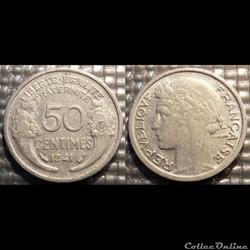 Ge 50 centimes Morlon 1941 18mm 0.7g