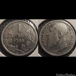 Belgique 1 Franc  1904  Der Belgen