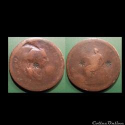 Monnaie Grande Bretagne 1/2 penny 1807