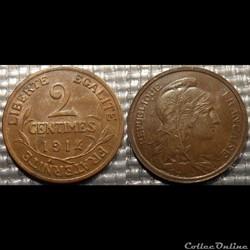 Ba 2 centimes Dupuis 1914