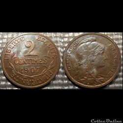Ba 2 centimes Dupuis 1907
