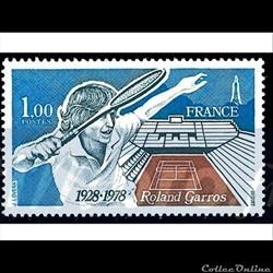 1978 50 ème anniversaire Roland Garros