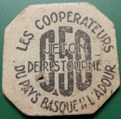 b-  Jeton de Ristourne Les Coopérateurs ...