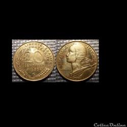Ef 20 centimes Marianne 1966 23.5mm 4g