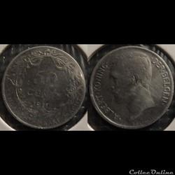 Belgique 50 Centimes 1911  Der Belgen