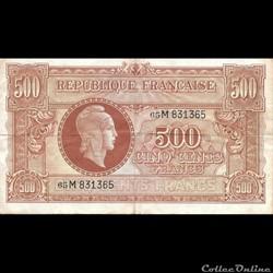 500 Francs Marianne France