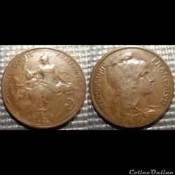 Ca 5 centimes Dupuis 1915