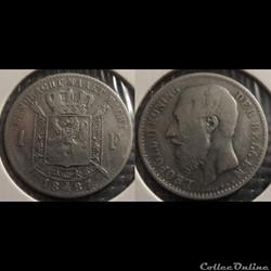 Belgique 1 Franc  1887  Der Belgen