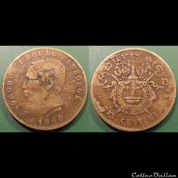 Cambodge 10 centimes 1860 Norodom I