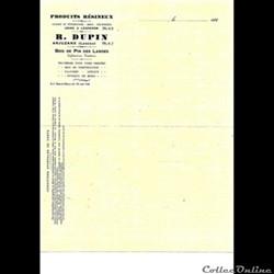 Vieux papiers: Arjuzanx R Dupin Relevé d...