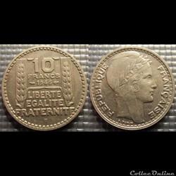 Lb 10 francs Turin grosse tête  rameaux ...