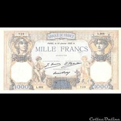 1000 Francs Céres-Mercure