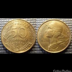 Gk 50 centimes Marianne 1963 25mm 7g