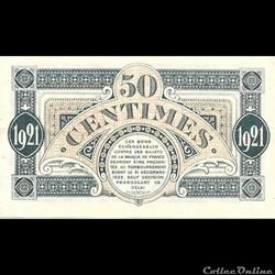 billet france banque xxe f1 50cent chambre de commerce de mont de marsan emission de la paix avec 1921 au verso