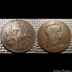 Ca 5 centimes Dupuis 1906