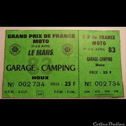 Grand prix de France Moto au Mans 1983