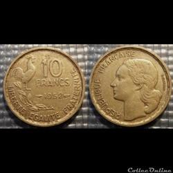 Le 10 francs Guiraud 1952 20mm 3g