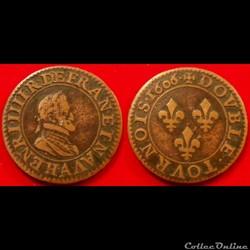 F10 Henri IV double tournois 1606 A Pari...