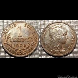 Aa 1 centime Dupuis 1904
