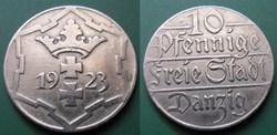 Danzig-Ville libre 10 Pfennige