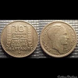 Ld 10 francs Turin petite tête 1949 B 26...