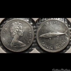 Canada 10 Cents 1967