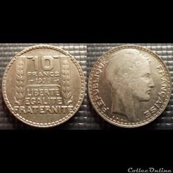 La 10 francs Turin 1930 28mm 10g