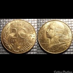 Ef 20 centimes Marianne 1985 23.5mm 4g