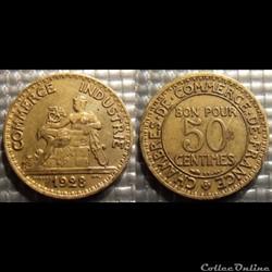 Gb 50 centimes Chambre de commerce 1928 ...