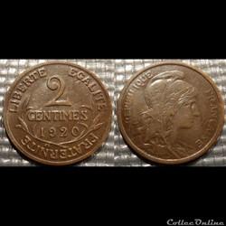 Ba 2 centimes Dupuis 1920