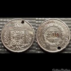 Brésil 200 Reis 1866