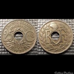 Fd 25 centimes EM Lindauer 1920 24mm 5g
