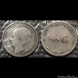 Antilles Néerlandaise 1/10 Guilder 1947
