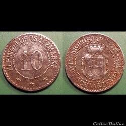 q- MN etr Germany Bavière 10 Pfennig 1917