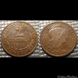 Ba 2 centimes Dupuis 1910