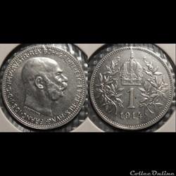 Autriche 1 Khrone 1914