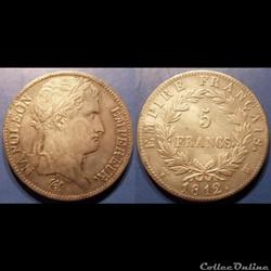 D-Napoléon I 5 Francs Premier Empire rev...