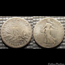 Ga 50 centimes Semeuse 1897 18mm 2.5g