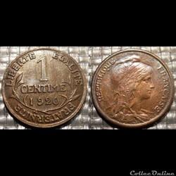 Aa 1 centime Dupuis 1920