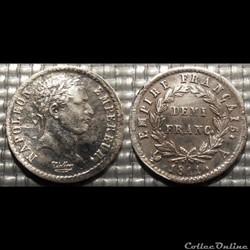 D-Napoléon I demi Franc Premier Empire r...