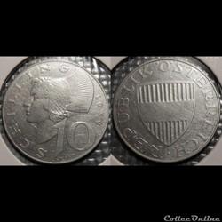 Autriche 10 Shilling 1974