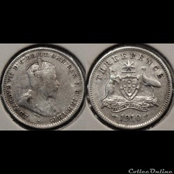 Australie 3 Pence 1910