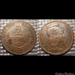 Ba 2 centimes Dupuis 1898