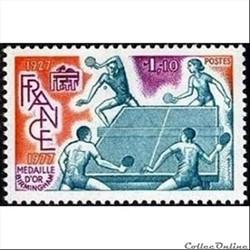 1977 Féfération Française de tennis de table 1927 1977