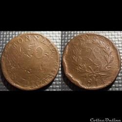 E Louis XVIII 10 centimes Siège d'Anvers...