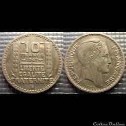 Ld 10 francs Turin petite tête 1947 B 26...