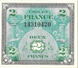 2 Francs Drapeau France 1944