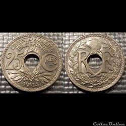 Fc 25 centimes EM Lindauer 1914 24mm 5g